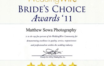 Matthew Sowa Photography Best of Wedding  2011 Wedding Wire